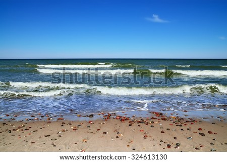 Beautiful Baltic beach