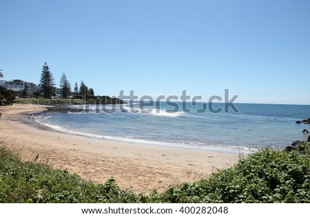 Beautiful Bargara beach near Bundaberg, Queensland, Australia - stock photo