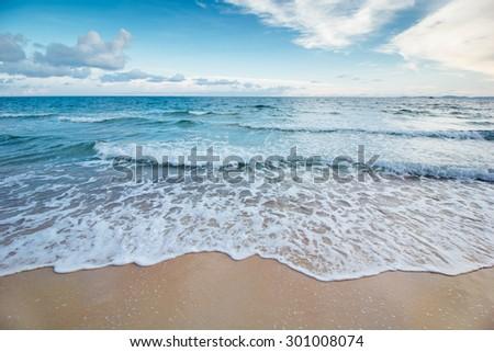 Beautiful beach - stock photo