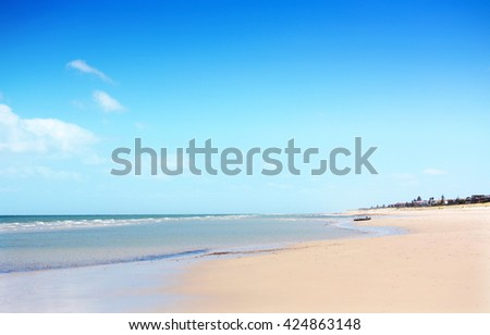 Beautiful beach and coastline in South Australia, with copy space, and applied light filters.  - stock photo