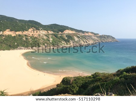 Beautiful beach and sea at sunny day in southern Vietnam.