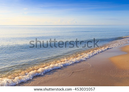 Beautiful beach and sea with blue sky