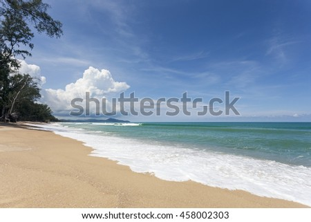 beautiful beach and tropical sea,for scenery summer background