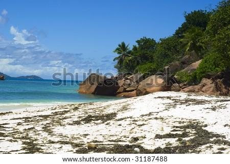 Beautiful beach Anse Matelot. Seychelles
