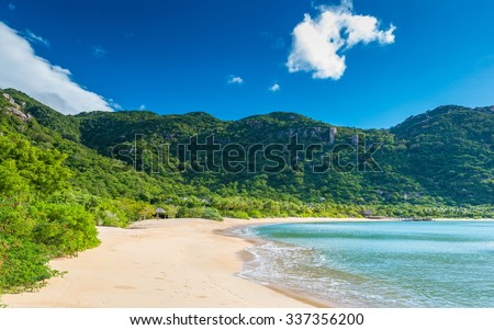 Beautiful beach at coast of Vietnam - Ninh van bay