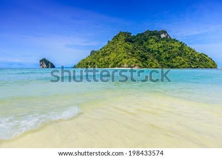 Beautiful beach at Talay Waek Krabi, Thailand - stock photo