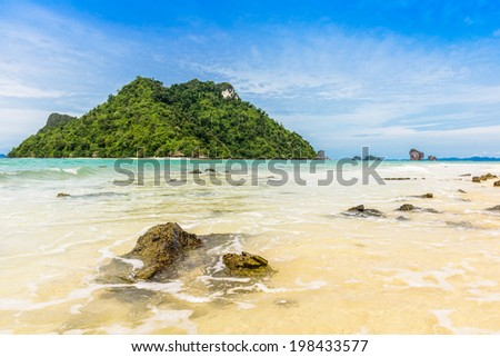 Beautiful beach at Talay Waek Krabi, Thailand