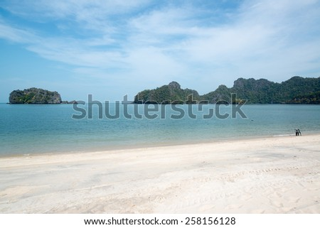 Beautiful beach at the andaman sea at Tanjung Rhu,Langkwai,Malaysia - stock photo