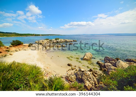 beautiful beach in Alghero, Italy - stock photo