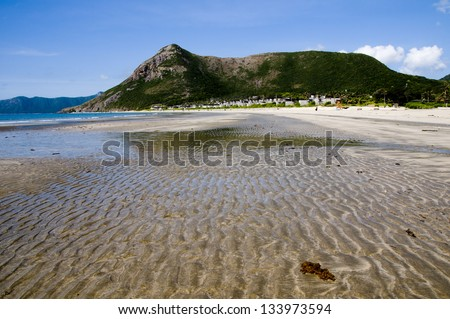 Beautiful beach in Condao island, Vietnam - stock photo