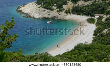 Beautiful beach in Croatia