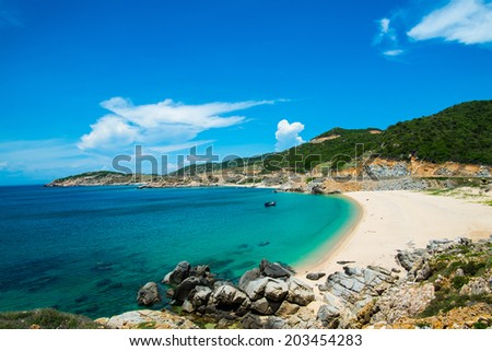 Beautiful beach in Ninh Thuan, Vietnam