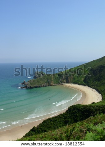 beautiful beach in Norther Spain - stock photo