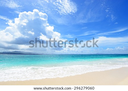 Beautiful beach in Okinawa. Japan - stock photo