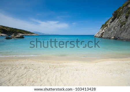 Beautiful beach in Xingia, Zakynthos
