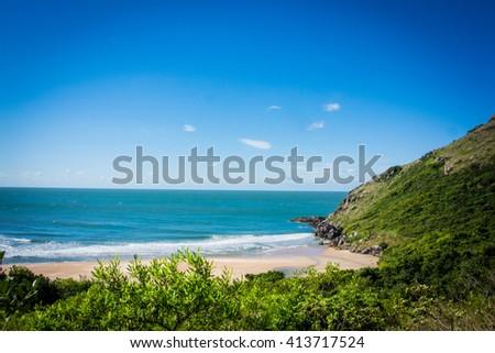 Beautiful beach. Lagoinha do Leste beach - Florianopolis - Santa Catarina - Brazil - stock photo
