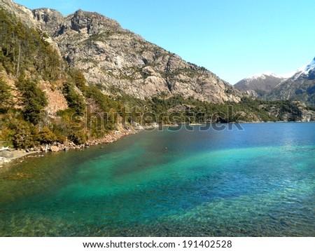 Beautiful beach landscape in Patagonia, Argentina. - stock photo