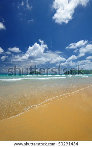 Beautiful beach landscape in Thailand