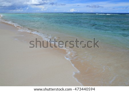 beautiful beach of Guam island