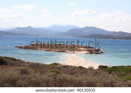 Beautiful beach of Passetto in Tavolara Island, Sardinia