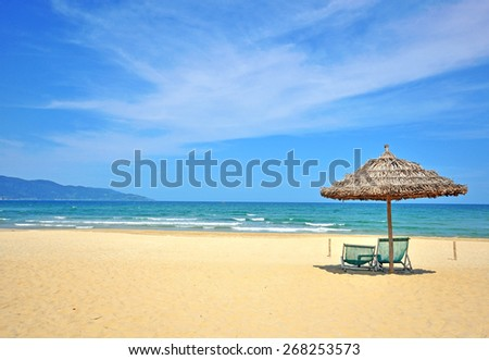Beautiful beach on South China sea