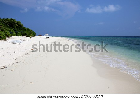 Beautiful beach on Ukulhas at Maldives