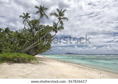 Beautiful beach scene in Seychelles