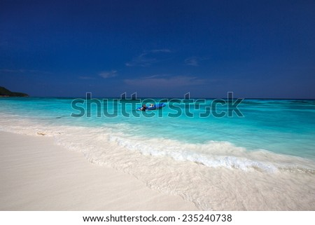 beautiful beach with clear water, Thailand - stock photo