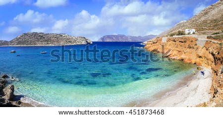 beautiful beaches of Greece series. Amorgos island, Cyclades
