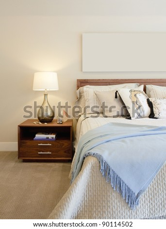 Beautiful Bedroom in New Luxury Home - stock photo