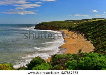 Beautiful Bell's Beach in Victoria, Australia