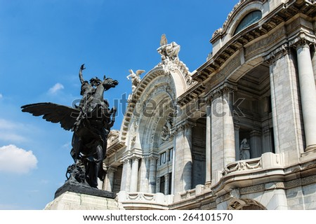 Beautiful Bellas Artes' Palace in Mexico City - stock photo