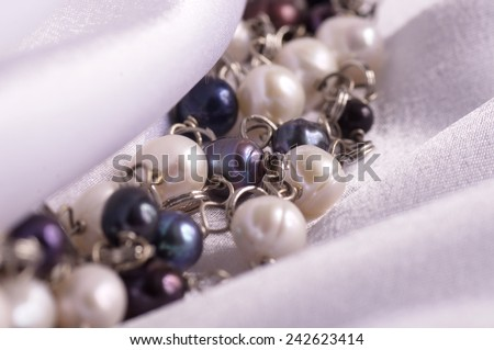 Beautiful bijouterie on white background - stock photo