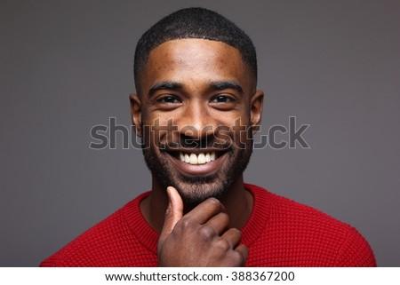 Beautiful black man - stock photo