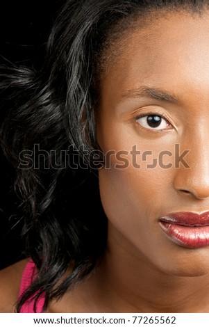 Beautiful black woman - stock photo