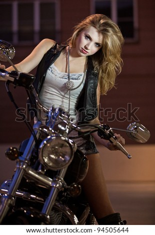 Beautiful blond caucasian american woman - stock photo