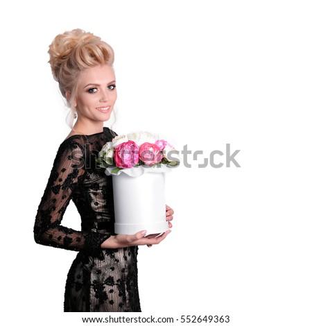 Evening dress images updo