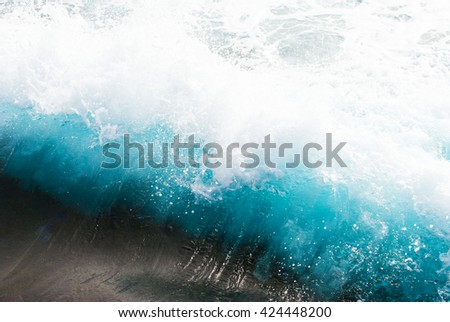 Beautiful Blue and turquoise Wave - stock photo