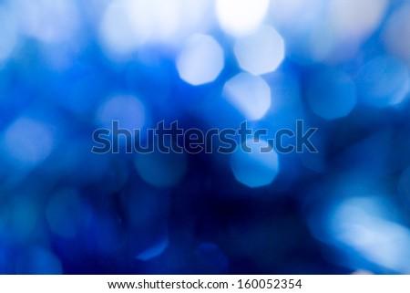 beautiful blue bokeh as background - stock photo