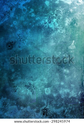 beautiful blue grunge background - stock photo