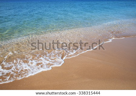 Beautiful blue sea and sand