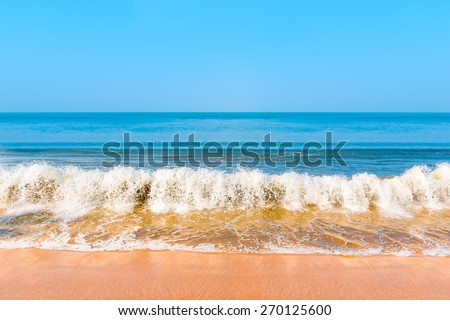 beautiful blue sea and the waves - stock photo
