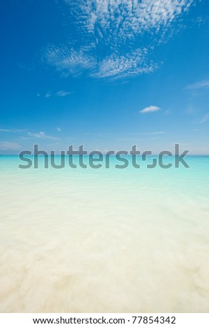 Beautiful blue sea from a beach in Thailand, Asia