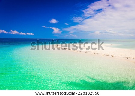 beautiful  blue  sea in tropical  island  travel background
