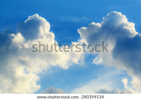beautiful blue sky and cloud   - stock photo