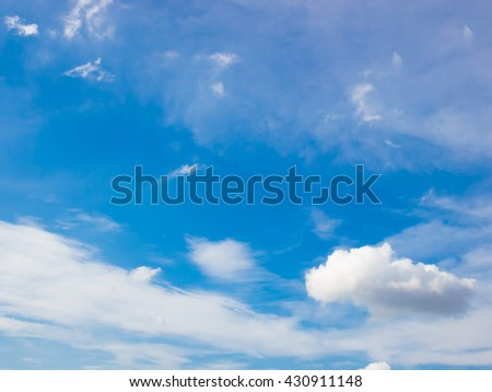 Beautiful blue sky and white cloud represent the sky and cloud concept related idea. - stock photo