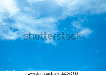 Beautiful Blue Sky Background Template With Some Space for Input Text Message Below Isolated on Blue sky