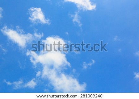 Beautiful Blue sky with clouds, Clear blue sky with clouds, for a background - stock photo