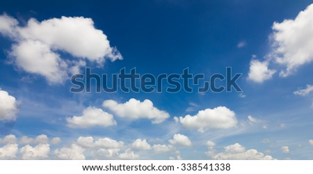 Beautiful blue sky with white cloud - stock photo