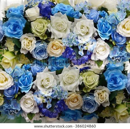 Beautiful Blue White Flower Wedding Decoration